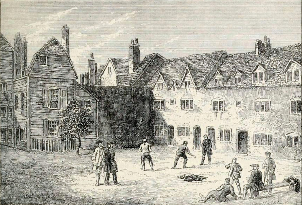 Racquet_court,_Marshalsea_prison,_London,_1800